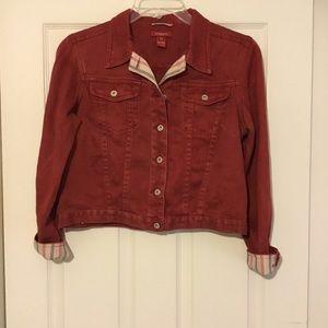 GUC Sundance 100% Hemp Red Jean Jacket Sz. M